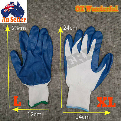 Nitrile Half Coated Gloves Work Working Nylon Outdoor Fishing Safety Brand New