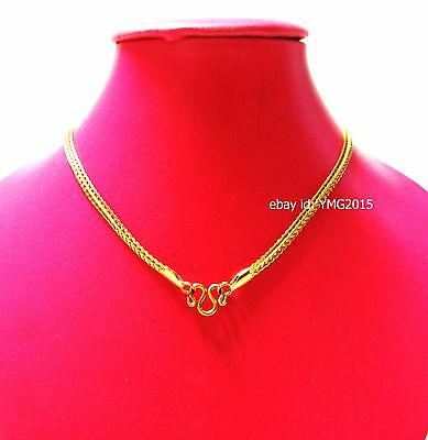 "NECKLACE 1 HOOK STAINLESS with GOLD Color 25""Length for Hang Amulet Buddha"