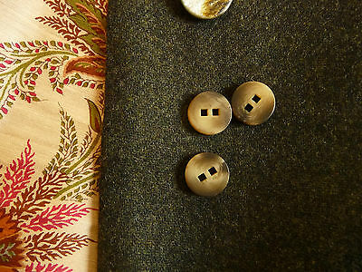 Knob, Buttons, Polyester, round,2-hole, square holes, Olive, Brown, Gradient,