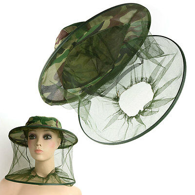 HOT Insect Bee Mosquito Fly Net Mesh Head Face Fishing Hiking Hat Protector Caps