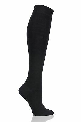 Girls 1 Pair SockShop Plain Bamboo Knee High Socks with Comfort Cuff and Handlin