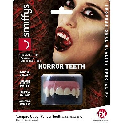 Unisex Realistic FX Horror Vampire Upper Veneer Teeth Halloween Fancy Dress