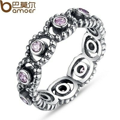Fashion 925 Silver Wedding Rings With Crystal For Women Compatible With Fit Orig