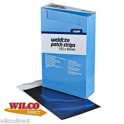 WELDTITE PUNCTURE REPAIR PATCH RUBBER STRIP 155 x 95mm BICYCLE TYRE CUT TO SIZE