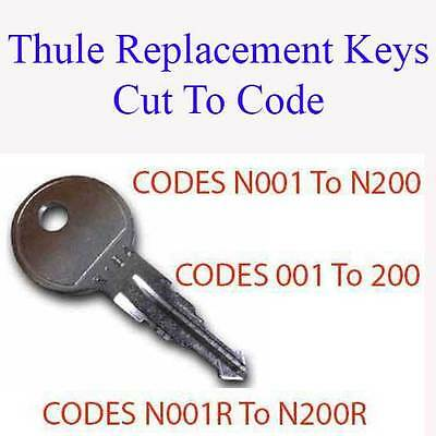 2 x Roof Box Replacement Keys Cut to Code - Codes N001 to N200 & 001 to 200
