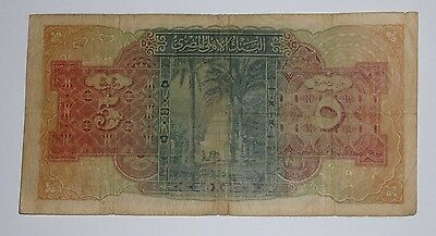 One Egyptian five Pounds 1945  UNCIRCULATED BANKNOTES Egypt