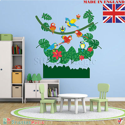 Large Nursery Wall Stickers Jungle Vinyl for Boy Girl Baby Childrens  Decals Art