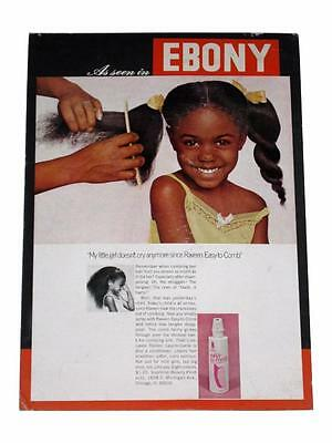 African American Hair Care Display Poster Ebony Black Styling Raveen Easy Comb
