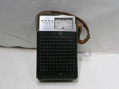 Sony TR-1814 All Transistor Radio Working with Leather Case