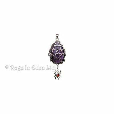 *SPYDER STAR* Silver Plate Crystal Keeper Pendant & Chain By Anne Stokes CK08