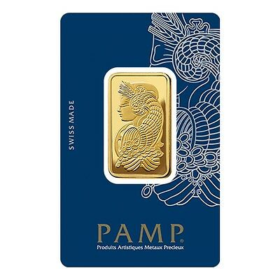 2 Tolas Gold Bar PAMP Suisse Lady Fortuna Veriscan .9999 Fine (In Assay)