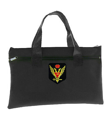 Scottish Rite Wings Up 33rd Degree - Black Masonic Tote Bag Crowned Double Eagle