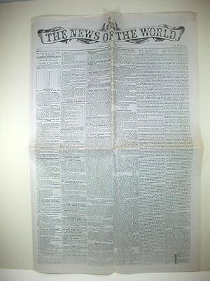 NEWS OF THE WORLD Oct 1st 1843; Newspaper; facsimile