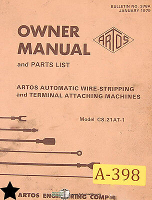 Artos CS-21AT-1, Wire Stripping and Terminal Attaching Machine Manual
