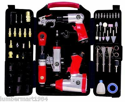 """King Canada Tools 8171 71 PIECE AIR TOOL KIT 1/2"""" IMPACT WRENCH RATCHET HAMMER"""