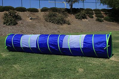 G3Elite Blue 11' Play Tunnel With Bag, Indoor/Outdoor, For Kids - Boys/Girls
