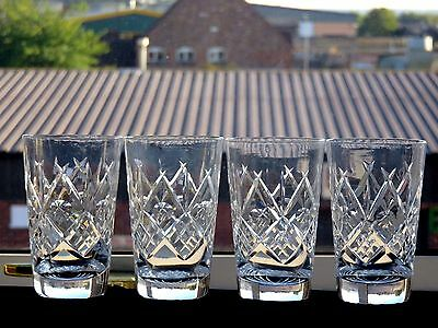 Beautiful Design Cut Glass Crystal Whisky Tumblers Set Of 4