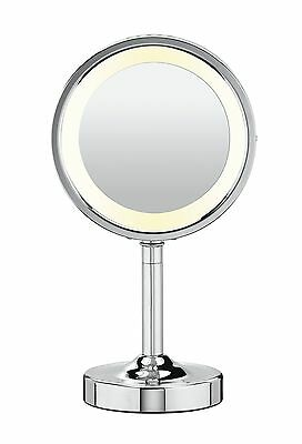 Conair Double-Sided Lighted Makeup Mirror Polished Chrome Finish