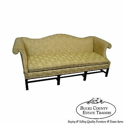 Hickory Chair Solid Mahogany Frame Chippendale Style Sofa