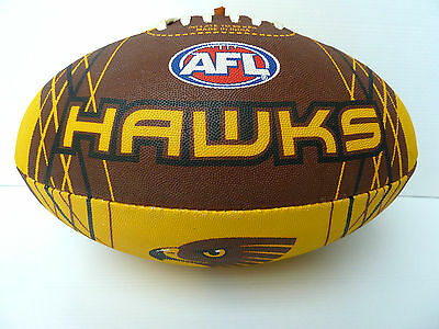 Afl Hawthorn Hawks Full Size Synthetic Team Football - Brand New