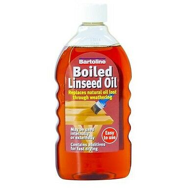 1Ltr Boiled Linseed Oil Bartoline Wood Treatment Internal And External Sealer 1L