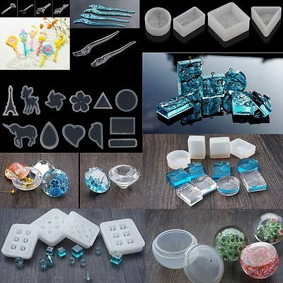 DIY Silicone Gems Beads Mould Mold Resin Jewellery Making Pendant Jewelry Craft