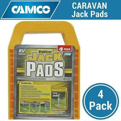 Camco Caravan Jack Pads Stabilizer Leg Supports, Corner Steadies - 4 Pack Levels