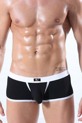 Mens Boxer Briefs with Open Sided Pocket Black