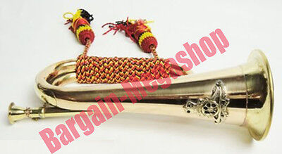 Bugle Brass Trumpet Bugle Military Signal Instrument Collectible EDH