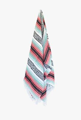 Mexican Blanket Premium Limited Coral Yoga Blanket Hand Woven Serape Throw