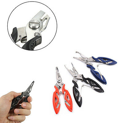 Stainless Steel Pliers Tool Fishing Remover Hook Braid Line Cutter Scissors