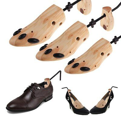 1 Pair 2-Way Wooden Shoes Stretcher Expander Adjustable Professional Shoe Tree