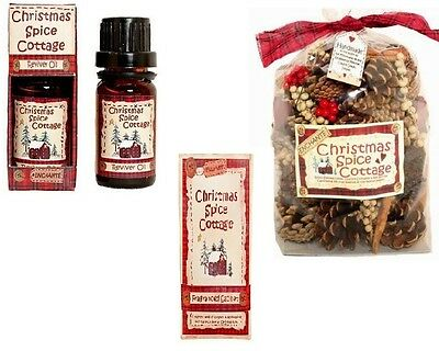 Christmas Spice Cottage Scent Cones Pot Pourri or Fragranced Oil, Warm Cinnamon
