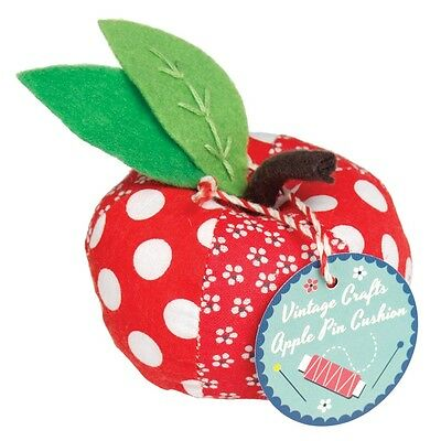 dotcomgiftshop VINTAGE CRAFT RED APPLE PIN CUSHION