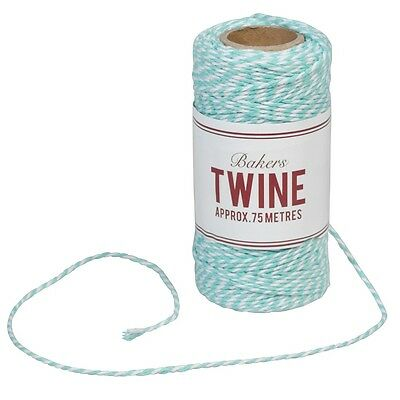 dotcomgiftshop BAKERS TWINE TURQUOISE AND WHITE