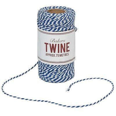 dotcomgiftshop BAKERS TWINE NAVY BLUE AND WHITE
