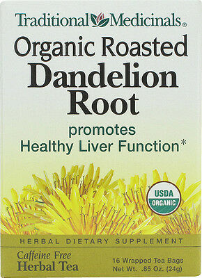 Organic Roasted Dandelion Root Tea, Traditional Medicinals,