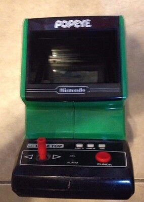 Nintendo Popeye Table Top Game & Watch w/ battery cover 1983 works