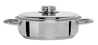NEW Artame 20 cm 18/10 Stainless Steel Nordico Saute Pan with Lid