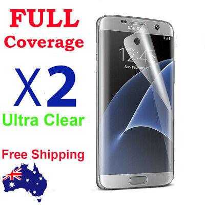 3x FULL Coverage Curved cover Screen Protector For Samsung Galaxy S7 Edge s6 s3
