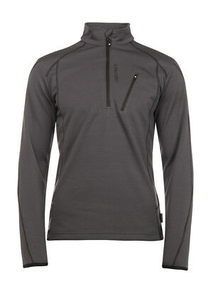 Protest Mens Humany 1/4 Zip Top 3710300 Asphalt