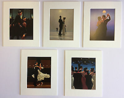 """'The Dancers Selection' by Jack Vettriano Set of 5 Mounted Art Prints 10"""" x 8"""""""