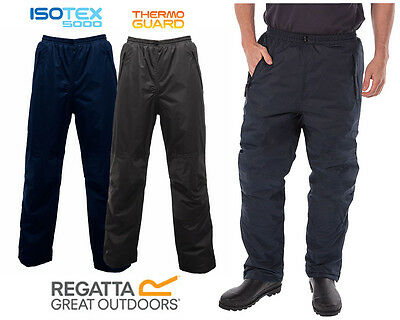 Mens Waterproof Warm Thermal Padded Insulated Golf Fishing Workwear OverTrousers