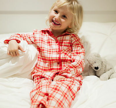 Cyberjammies Girls Red Pink Check Brushed Cotton Pyjamas ~ LAST ONE ~ Age 4-5