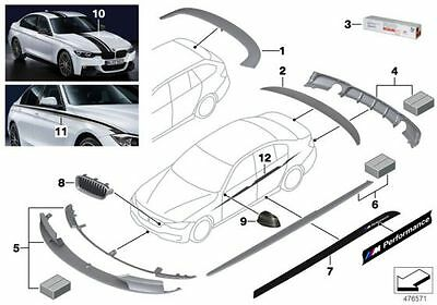 BMW Genuine M Performance Boot Rear Trunk Lid Spoiler Wing Carbon 51712240832