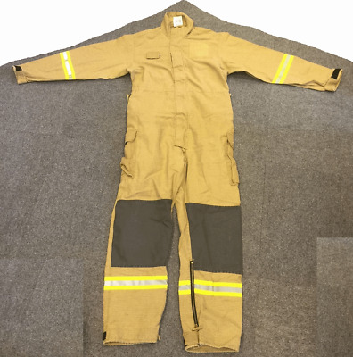 Fire service one piece fire retardant firefighting coveralls overalls PBI gold