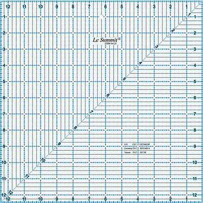 """Le Summit Quilting patchwork square Ruler - 12.5 x 12.5"""""""