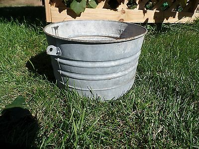 Galvanized Bucket Barn Fresh Farm House Distressed 8.5""