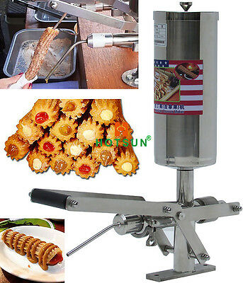 304 Stainless Steel 5L Manual Spanish Churros Nutella Filler Filling Machine