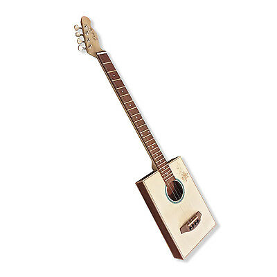 4 String Handmade electric acoustic Cigar Box Guitar